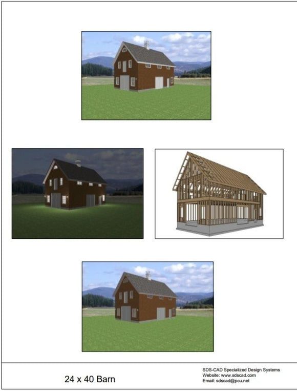 Barn 24 x 40 blueprint plans