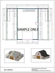 Download 36 x 48 Barn Plan