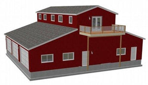 G468 60 x 60 14 Barn RV Garage with apartment PDF Files