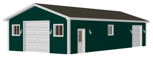 #G511 24 x 50 Pole Barn plans in PDF#G511 24 x 50 Pole Barn plans in PDF
