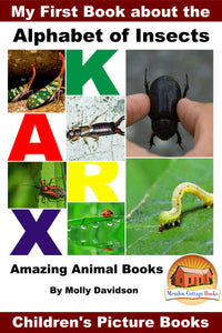 My First Book about the Alphabet of Insects - Amazing Animal Books