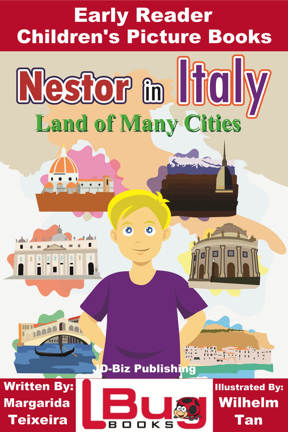 Nestor in Italy Land of many Cities - Early Reader Children's Picture Books