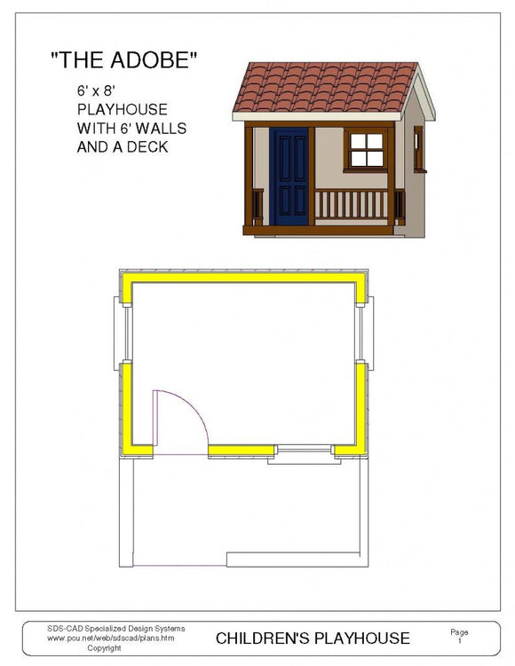 Adobe Playhouse Plan