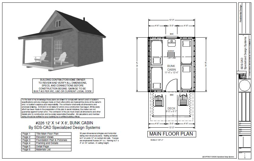 #226 12' X 14' X 8', Bunk House Cabin Plan Bunkhouse Plan on motel plans, hotel building plans, office plans, backyard plans, diy outdoor bbq grill plans, drawing room plans, bed and breakfast plans, ranch plans, campground plans, toy hauler plans, barbeque plans, restaurant plans, farmhouse plans, trailer plans, boathouse plans, storage room plans, dormitory plans, chalet plans, clubhouse plans, caravan plans,