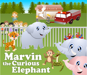 Marvin the Curious Elephant -  Early Reader Children's Picture Books