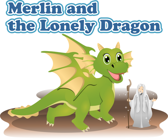Merlin and the Lonely Dragon - Early Reader Children's Picture Books