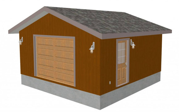 Custom 20' x 20' - 10' Garage Plan