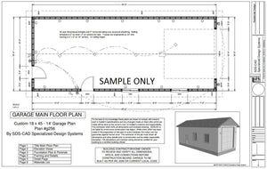 g256 18 x 45 x 14 RV GARAGE Plans Blueprints