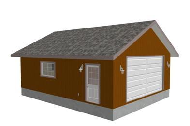 g274 24' x 30' x 9'  Garage Plan in PDF file
