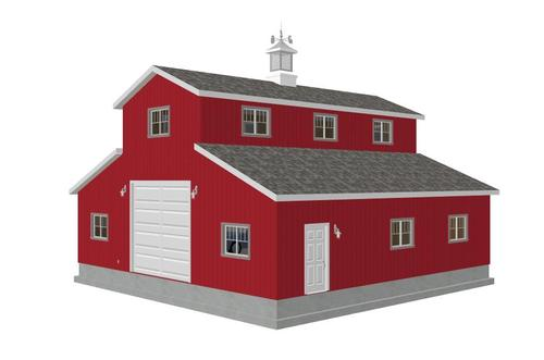 #g315 40 x 40 Monitor Barn Plans in PDF
