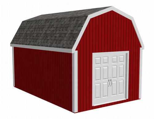 g484 12' x 20' x 8 Gambrel Barn - Shed