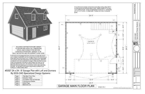 Free Sample Garage plan