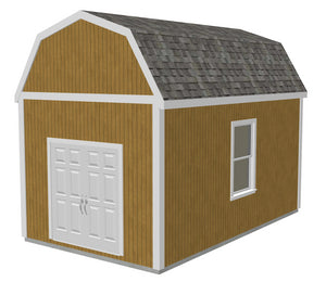 g530 12 x 20 x 10 Slab Gambrel Barn
