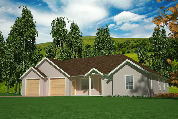 H101 3 bdrm 2 bath 1500 Sq foot Main House Plans in PDF