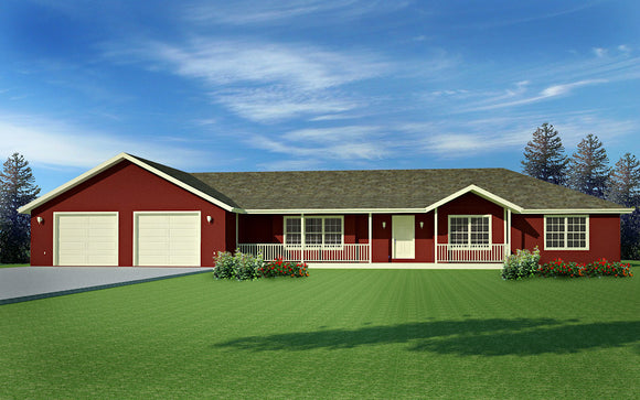 #H170 House Plans Ranch style 220 Sq Ft in PDF