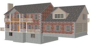 #H202 Custom House Plans Country Estate in PDF