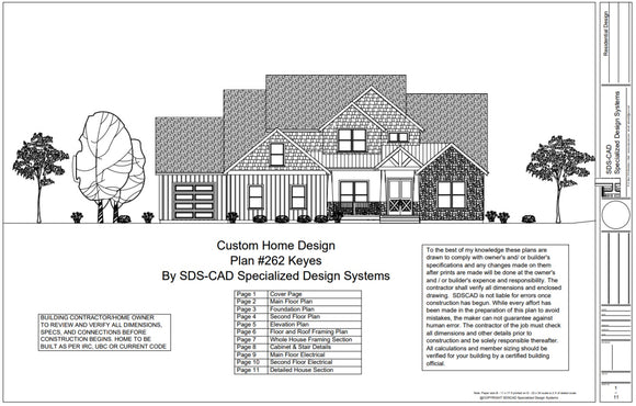 h262 - 2 Story Country Style House Plans