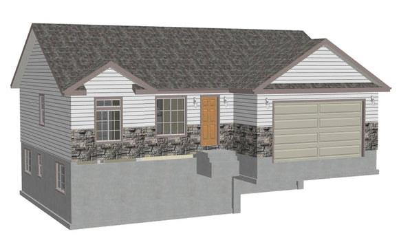 Plan #sds239 1300 sq ft 3 bdrm 2 bth 1300 sq ft small house plans in PDF