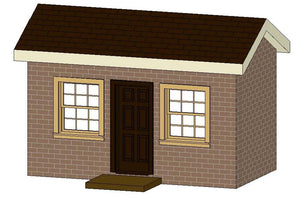The 6 x 12 Brick Playhouse Plans