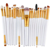 20 Piece Face & Eye Makeup Brushes