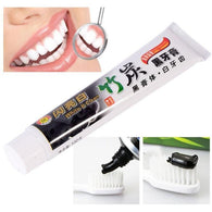 Bamboo Charcoal Whitening Toothpaste will whiten and brighten your teeth just after the first use. Charcoal binds to tartar and plaque to safely remove and whiten teeth.
