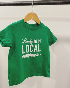 LUCKY TO BE LOCAL . Toddler Tee