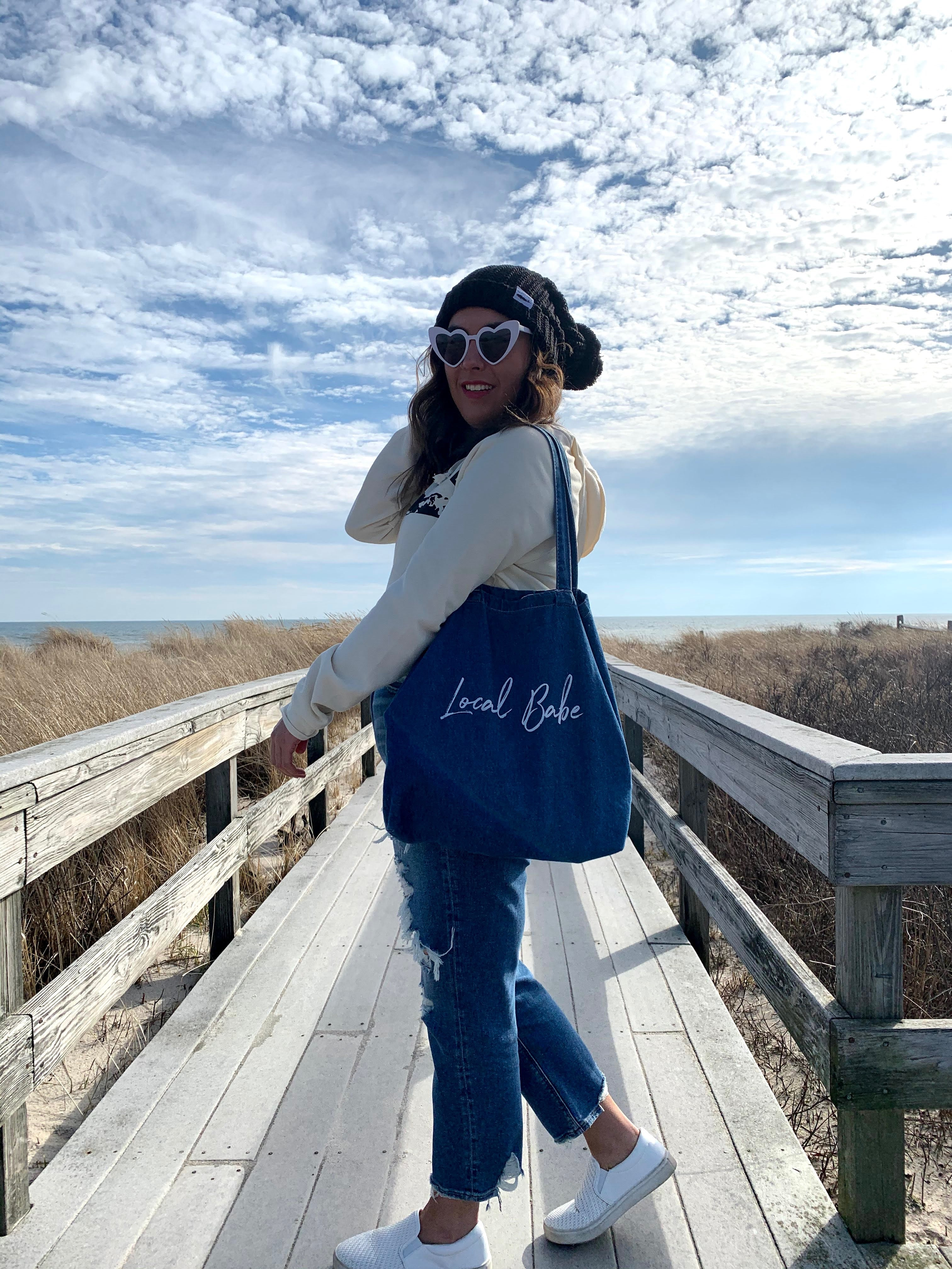 LOCAL BABE | Denim tote