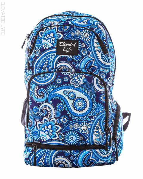 Blue Paisley - PEAK Collection Hydration Pack (2L) Backpack - Elevated Lyfe