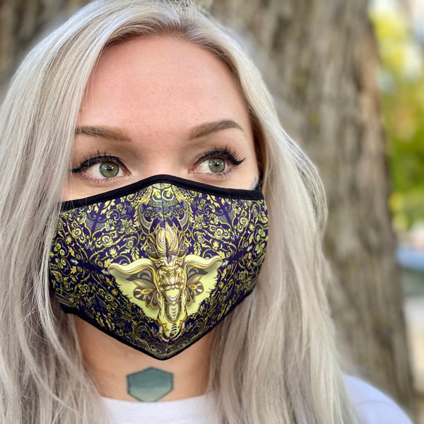 2 PACK Royal Elephant Face Mask + Filter - Elevated Lyfe