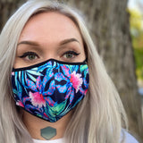 2 PACK Floral Face Mask + Filter - Elevated Lyfe