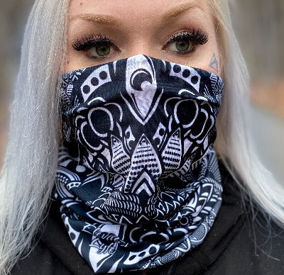 2 PACK Geo Face Mask - Tube Bandana - Elevated Lyfe