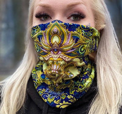 2 PACK Royal Elephant Face Mask - Tube Bandana - Elevated Lyfe