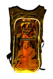 Gold Holographic w/ LIGHT UP EL WIRE - CLASSIC Collection V2 Hydration Pack (2L) - Elevated Lyfe