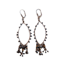 Fair trade black beaded earrings.