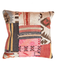 Hand Woven Turkish Kilim pillow cover in multi pattern