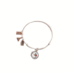 Wind & Fire April birthstone silver adjustable bracelet
