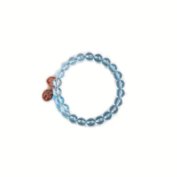 Wind & Fire light blue round bead bracelet