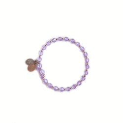 Wind & Fire violet bracelet with silver spacers