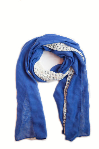 Blue and white Scarf