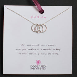 Dogeared Karma Necklace silver