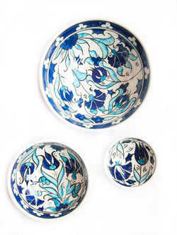 Blue Hand Painted Ceramic Bowls