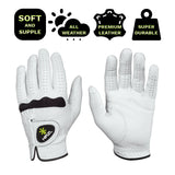 HIRZL Soffft Flex Golf Gloves - White - CLOSE OUT SALE