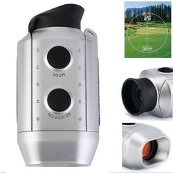 Digital Golf Range Finder w/ 7x Zoom w 250 yards distance range - Silver