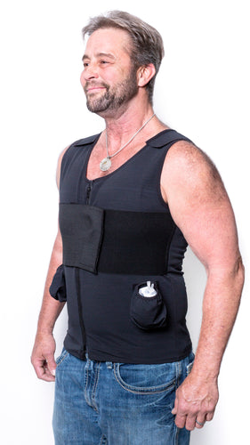 FTM Top Surgery Compression Vest w/ Removable Drain Pockets Male