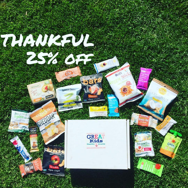 Thankful for healthy snacks and you!