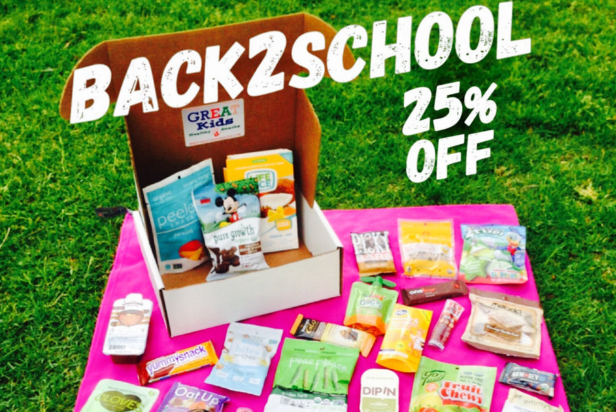 Back to School Healthy Snacks 25% OFF