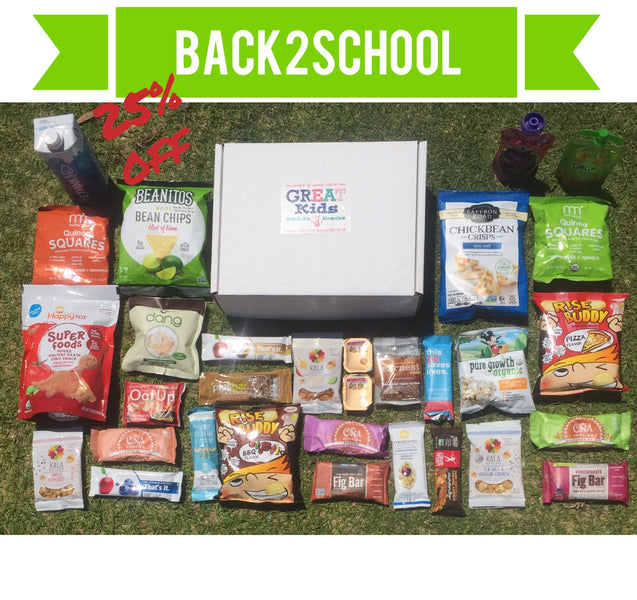 Make Back to School Easy & Fun With Healthy Snacks  and 25% off code