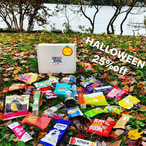 GREAT Kids Snack Box - Healthy Halloween Organic All Natural Monthly subscription box
