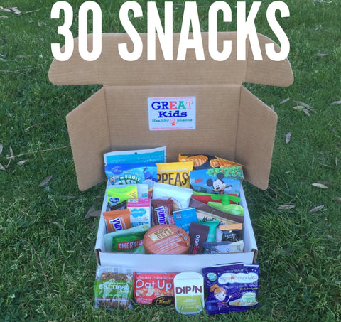 GREAT Kids Snack Box - 30 organic all natural healthy snacks