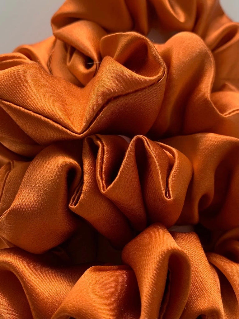 SCRUNCHIE SILK ORANGE DARK